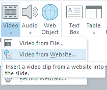 Add a video from a website